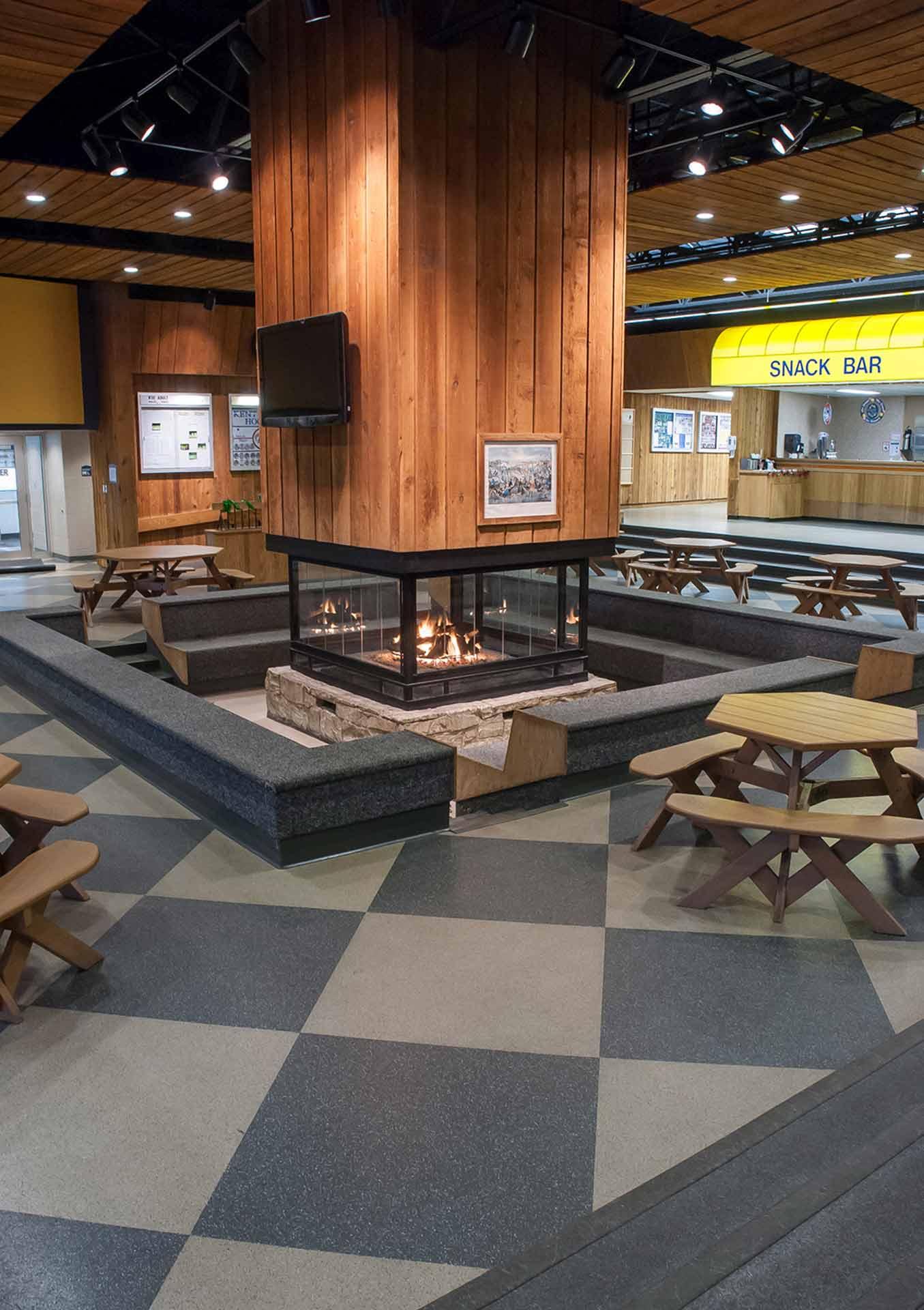 College Athletic Complex Flooring Professional Photograph