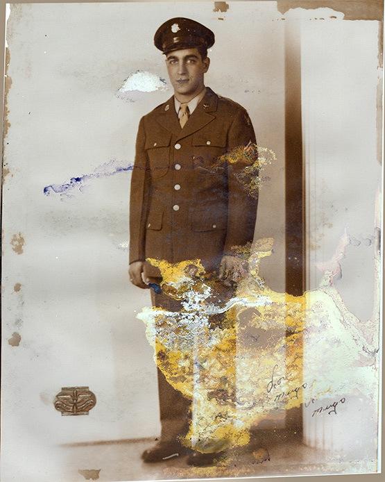 Formal Military Portrait Old Photo Restoration