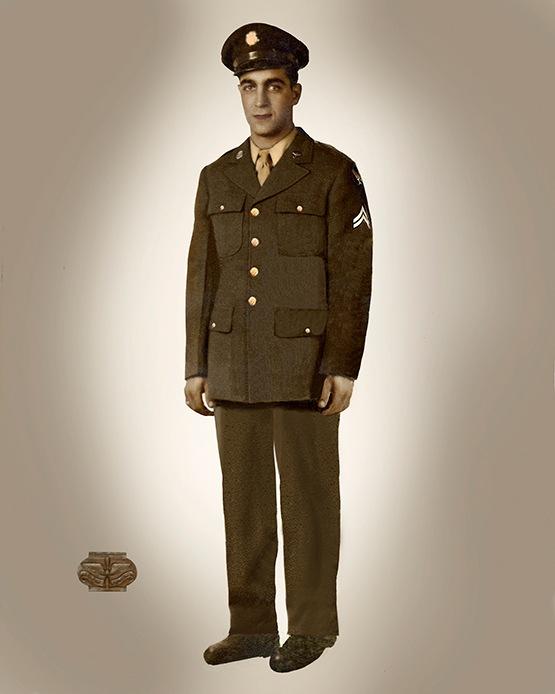 Formal Military Portrait Photo Restoration