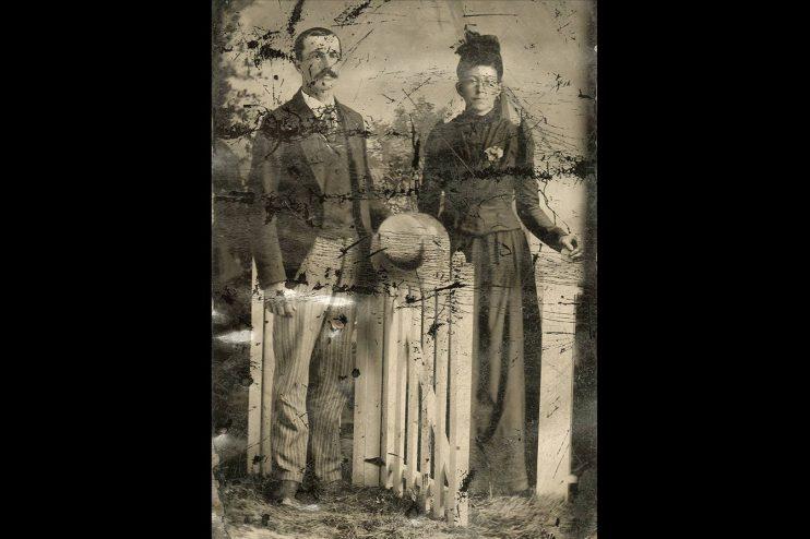 Historic Couple Old Photo Restoration