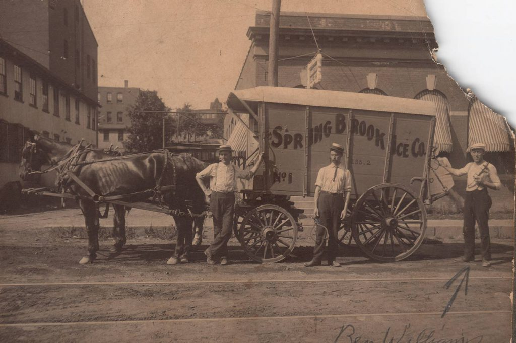Horse Drawn Ice Delivery Old Photo Restoration