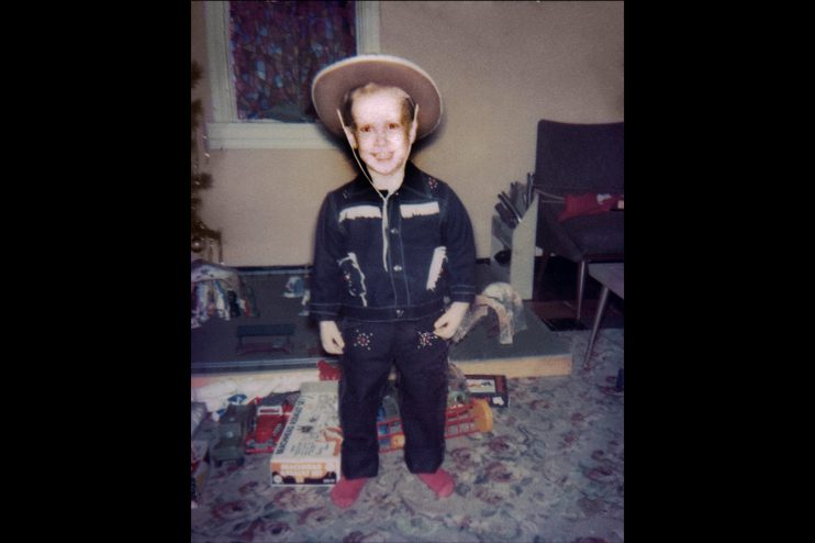 Young Cowboy Photo Restoration